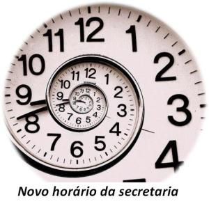 Novo horário secretaria