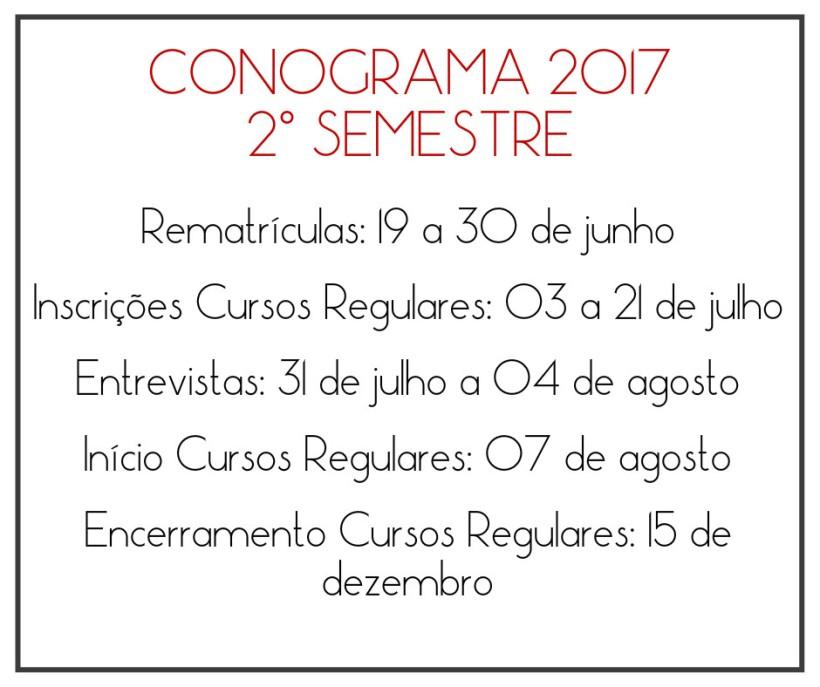 CONOGRAMA segundo semestre